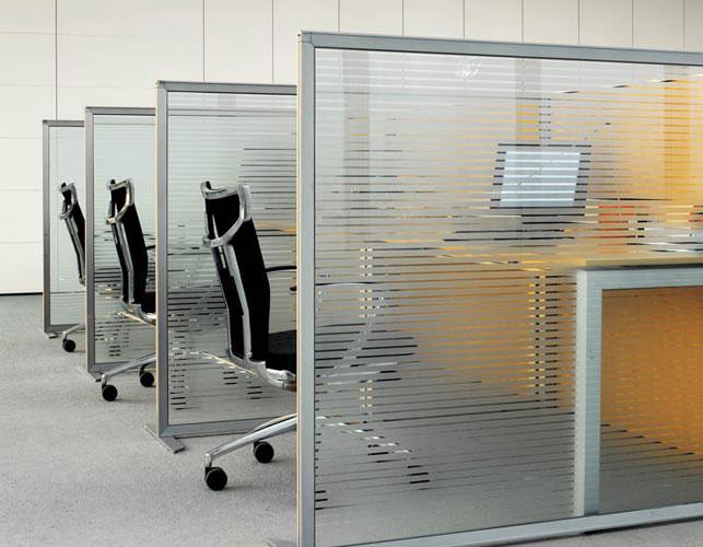 Separation bureau u concept et realisation aluminium